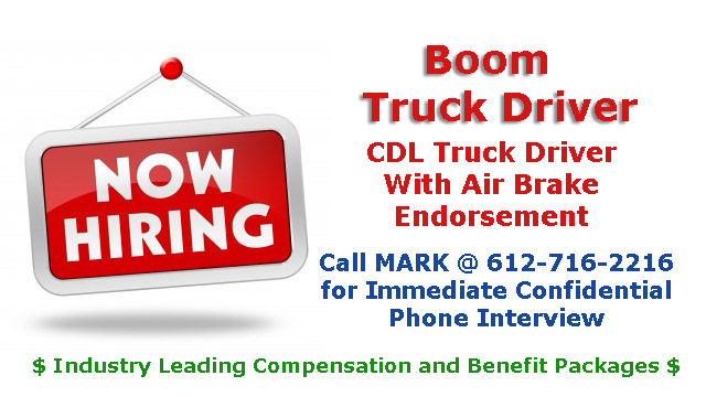 Boom Truck Driver Wanted